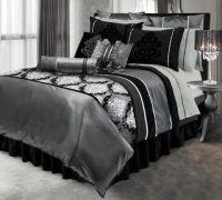 black silver and white room decor - Google Search | room ...