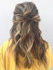 boho hair prom updo with braids