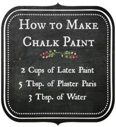 How To Make Chalk Paint This Is Way Cheaper Than Purchasing The Tiny Containers At