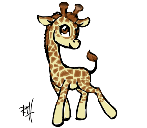 giraffe drawing drawings giraffes easy brony draw drawn animal animals sketchport step steps clipart discover