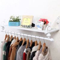 Heavy Duty Metal Clothes Rail Wall Mounted Garment Hanging ...