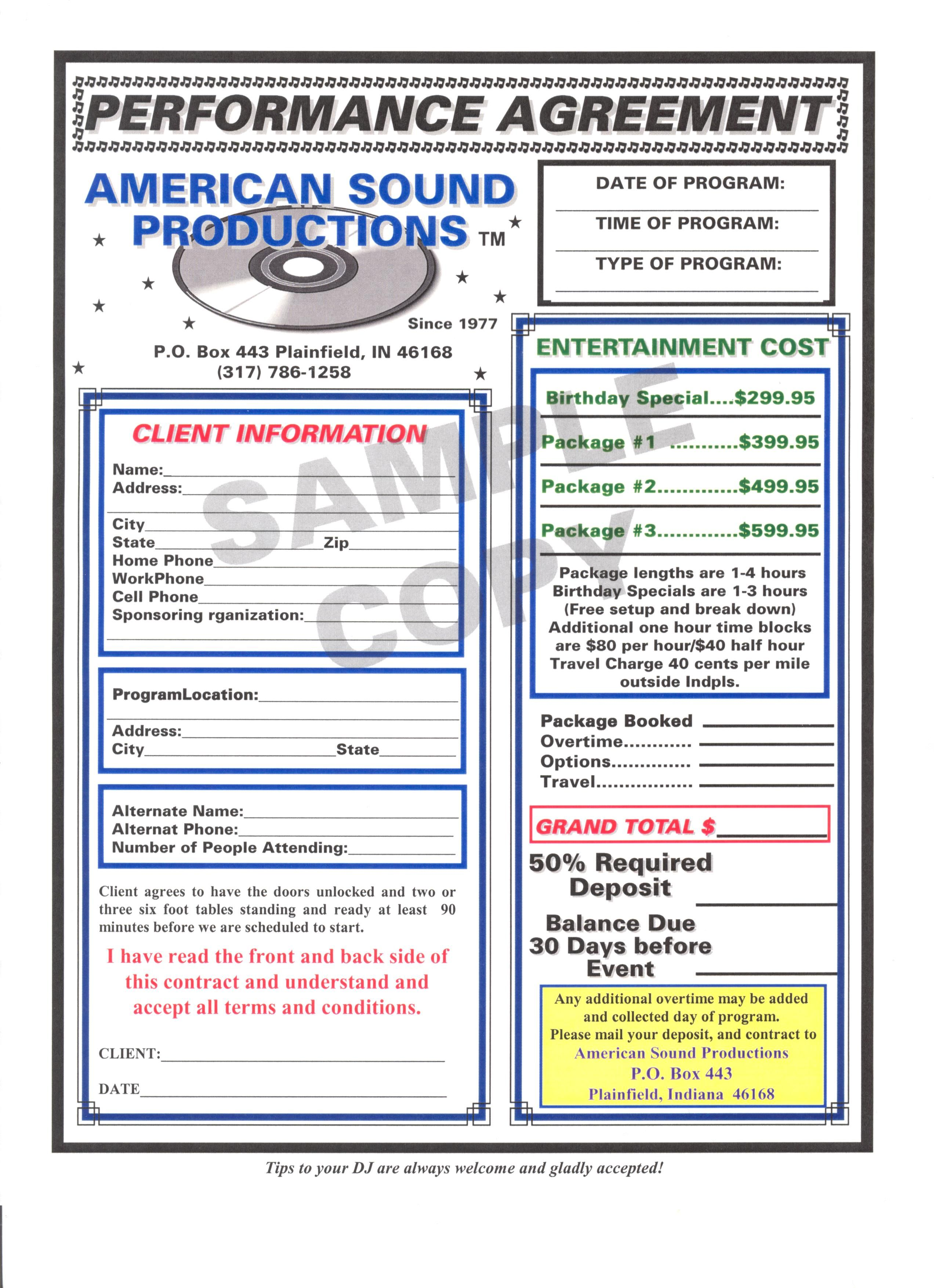 Dj Contract Template   Non Compete Agreement - D J Contracts