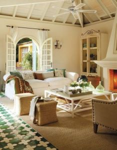 Cute design home cottage interior featuring white colored sofas also sunny house pinterest interiors and rh