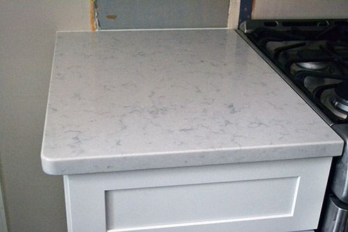 White Kitchen With Silestone In The Color Helix