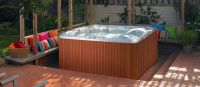 Patio Hot Tub Ideas - Backyard Hardscape - Hot Tub Designs ...