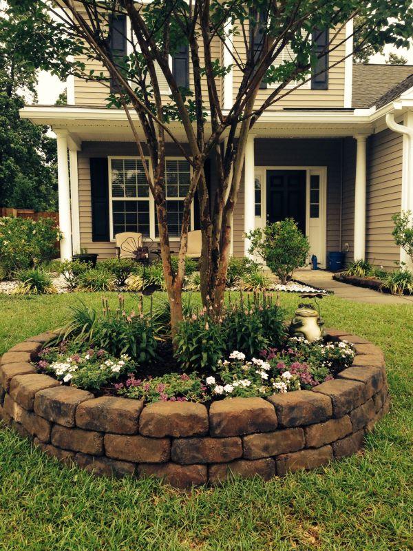 front yard landscape project
