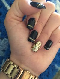Black And Gold Nail Polish Designs