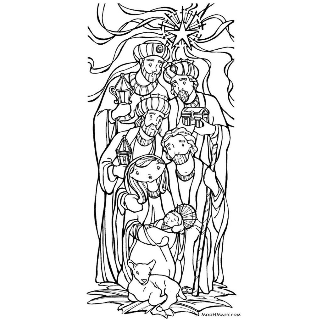 Epiphany Catholic Coloring Page Free Printable