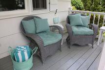 Repainted Wicker Idea Porch
