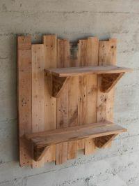 Pallet Wall Shelves | Pallet wall shelves, Pallet shelves ...