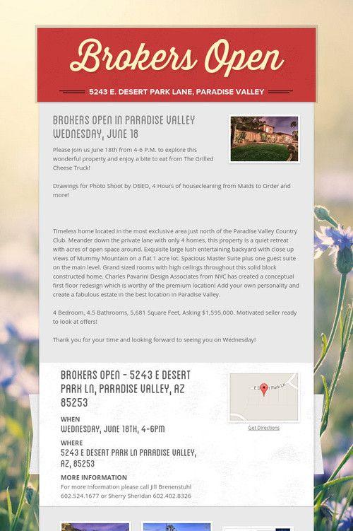 Brokers Open Giveaways Broker Open House Ideas Pinterest