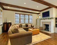 faux wood ceiling beams, idea for the living room and
