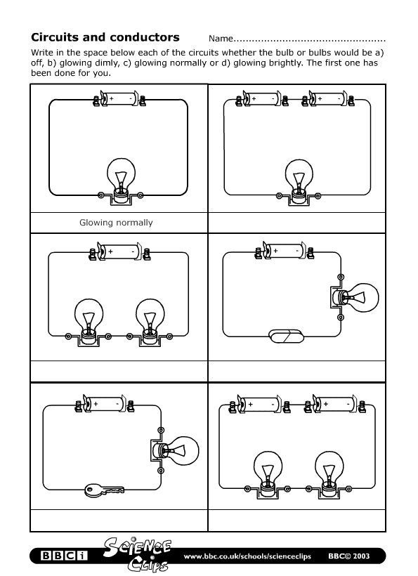 BBC Schools Science Clips Circuits And Conductors Worksheet