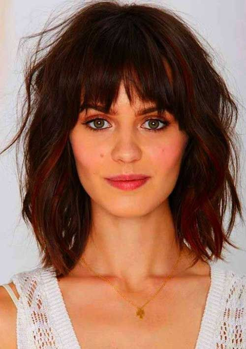 Short Hairstyles With Bangs For Round Faces Hair Pinterest