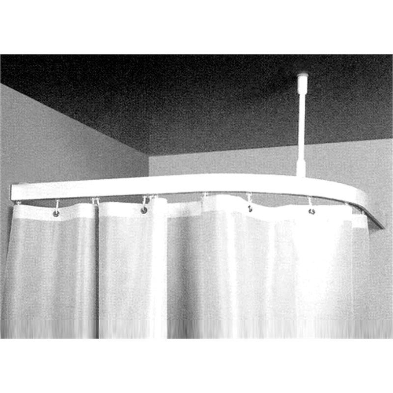 BUNNINGS 87 Zone Hardware 1 X 1m Shower Curtain Corner Bend Track