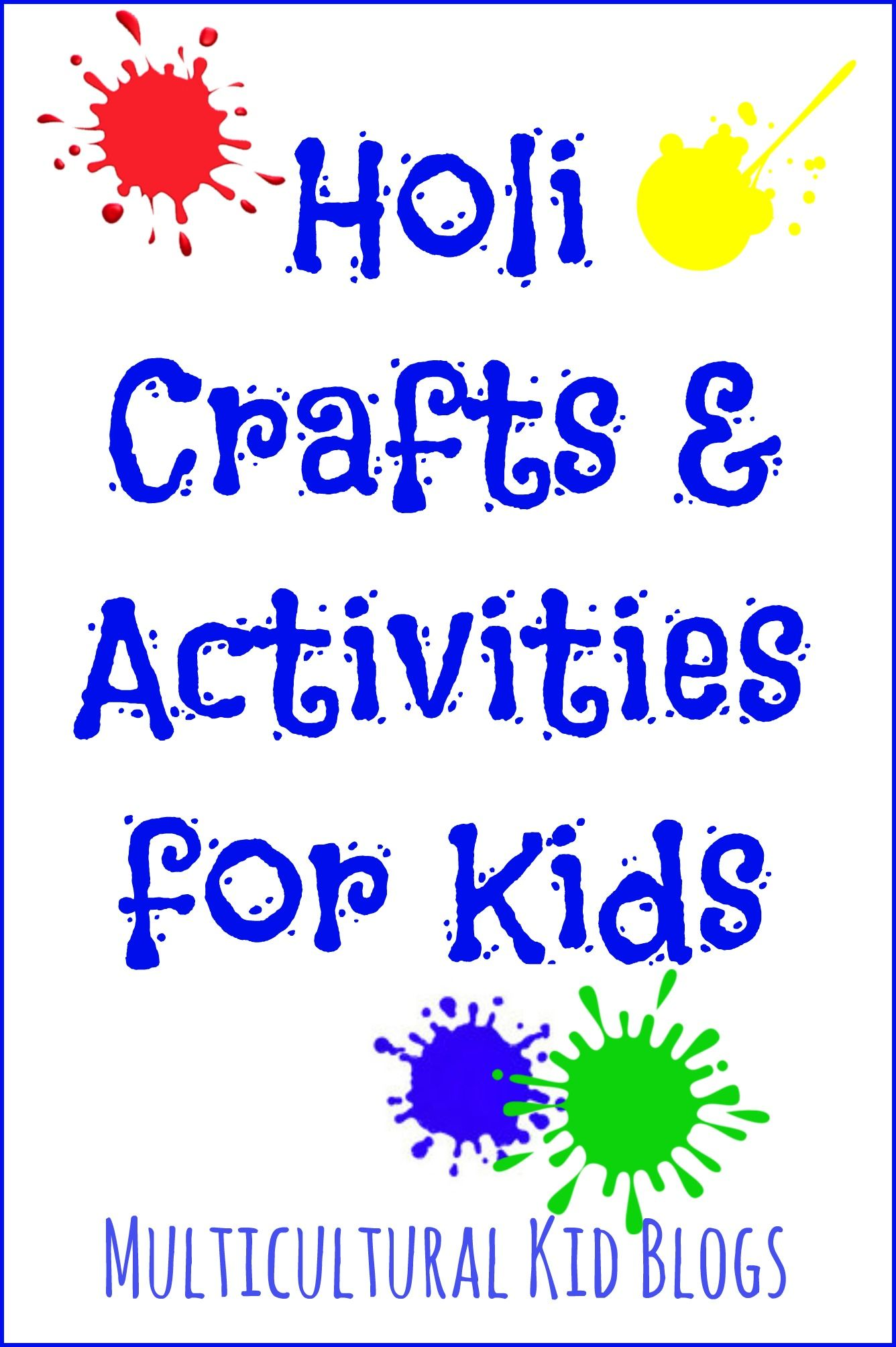 Holi Crafts And Activities For Kids