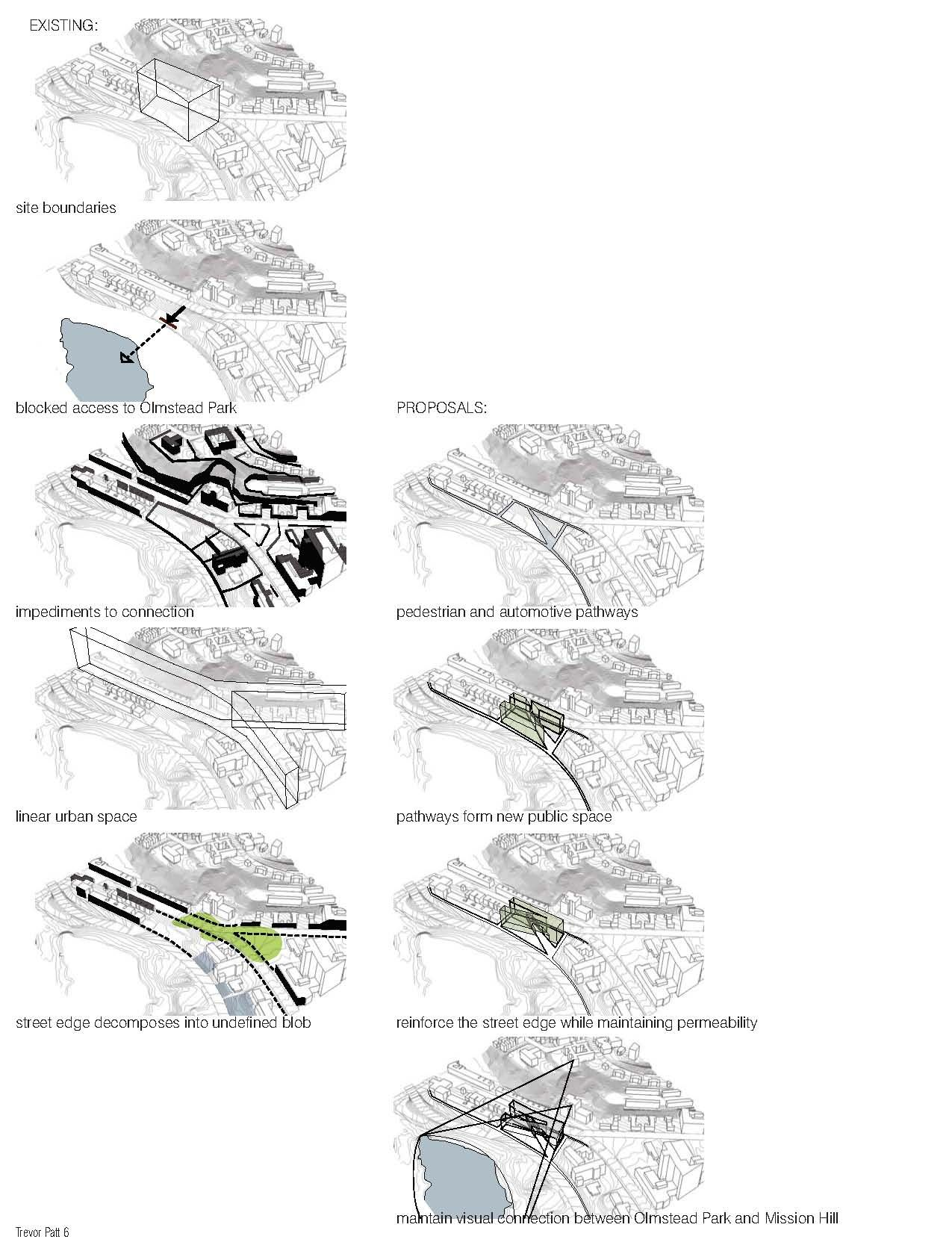 Site Strategy Focused On Cutting Through The Grain Of A Site Highly Striated By Topography