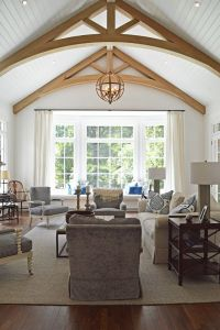 Image result for rounded peak in vaulted ceiling | House ...