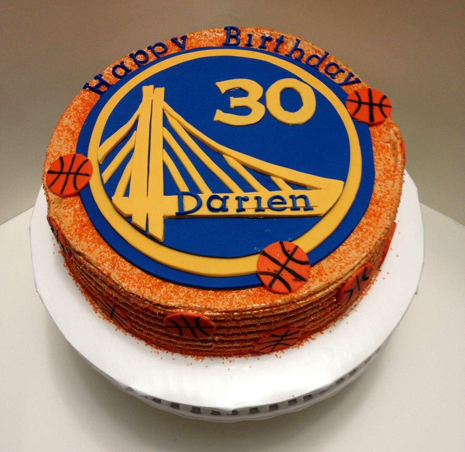 Basketball Cake Golden State Warriors Buttercream