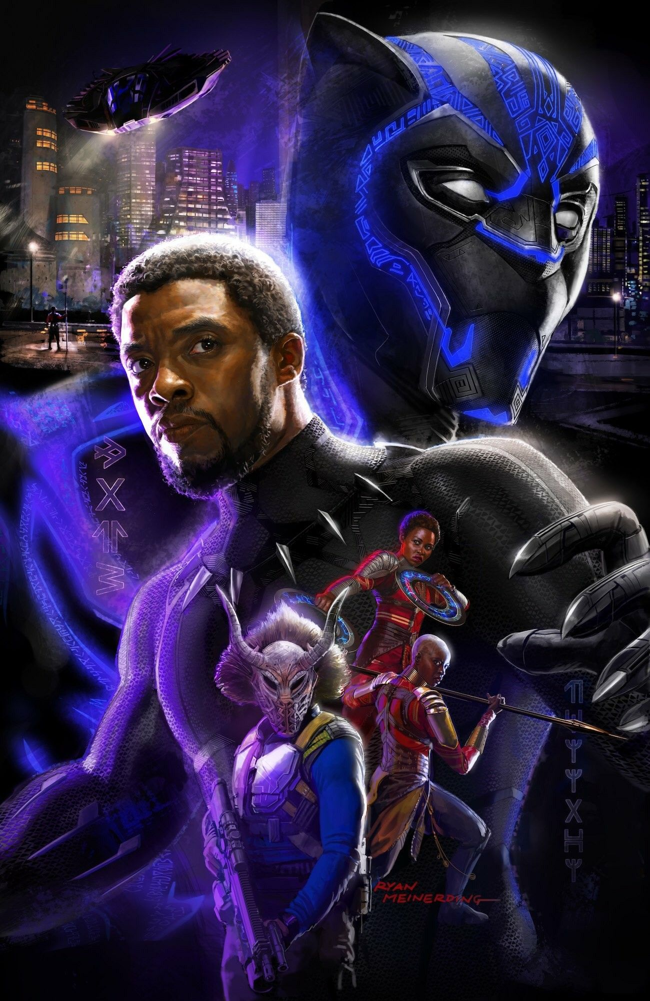 Warrior Falls Mcu Wallpaper Ryan Meinerding Black Panther Poster Sexy Comic