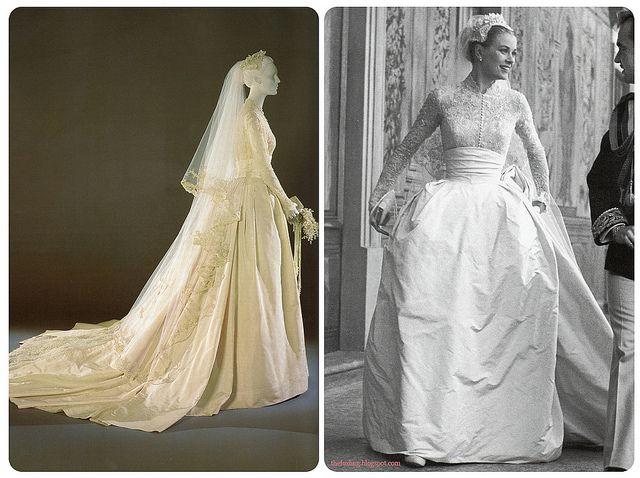 Grace Kelly's Wedding Dress Lace Photostream And Wedding