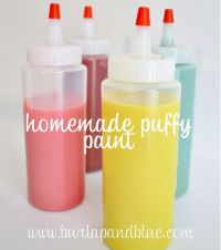 diy puffy paint {a tutorial} | Puffy paint, Activities and ...