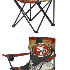 49ers Camping Chair Steel Airport Seats And Chairs 52507 Nfl San Francisco Canvas Camp With Metal Legs