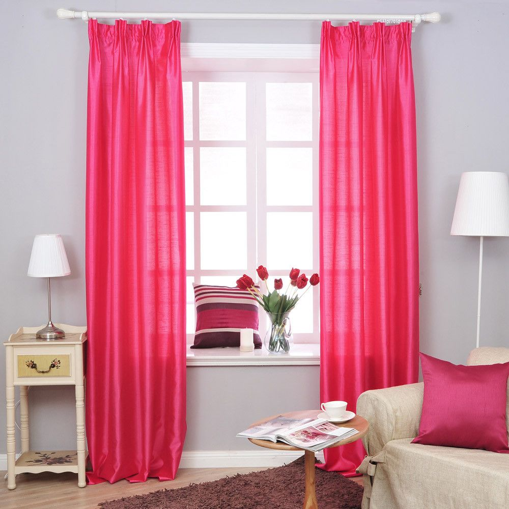 Beautiful Curtains For Girls Bedroom Decoration Endearing Pink
