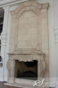Beautiful fireplace mantel by - Segreto Finishes, Houston ...
