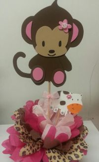Monkey Baby Shower Table Decorations | Monkey (Jacanda ...