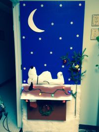Charlie Brown Christmas- Door decorating contest. | She's ...
