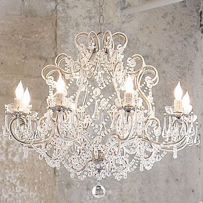Want A Shabby Chic Chandelier Scour Thrift S Can Of Spray Paint
