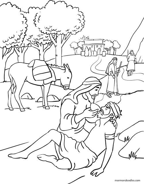 The Parable Of Good Shepherd Coloring Pages Sketch