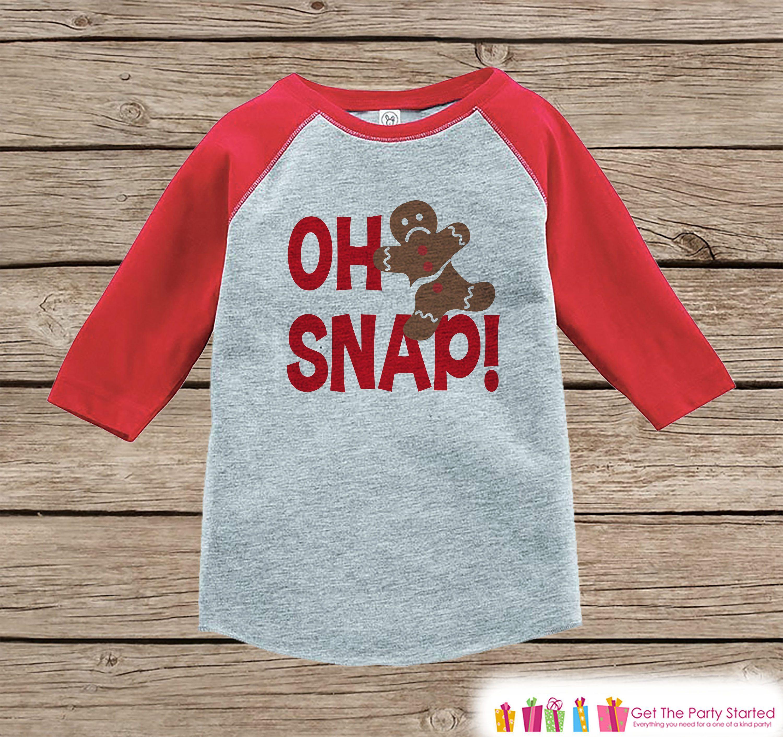 Kids Funny Christmas Shirt Gingerbread Man Shirt Or