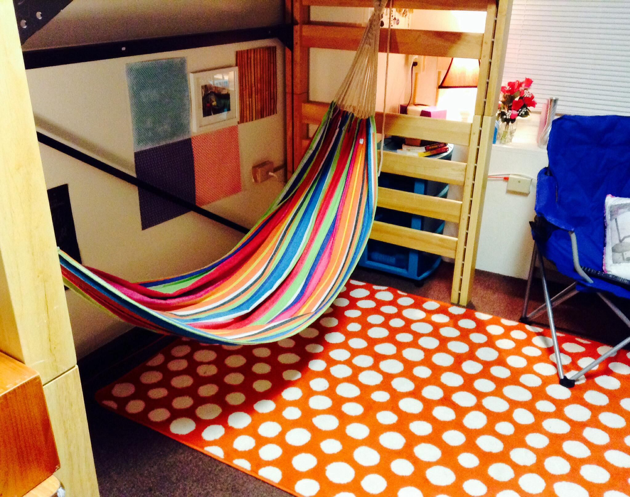 Hang A Hammock Under Your Bed In Your Dorm Room