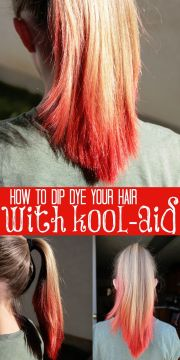 dip dye hair with kool-aid