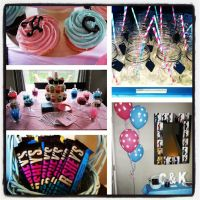 Twin baby shower! Theme was pink and blue for a girl and a