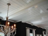 t & g ceiling with beams | 1604 La Mirada Drive, San ...