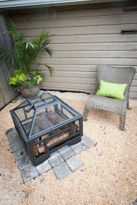 Backyard Makeover with Lowes we added a paver and pea ...