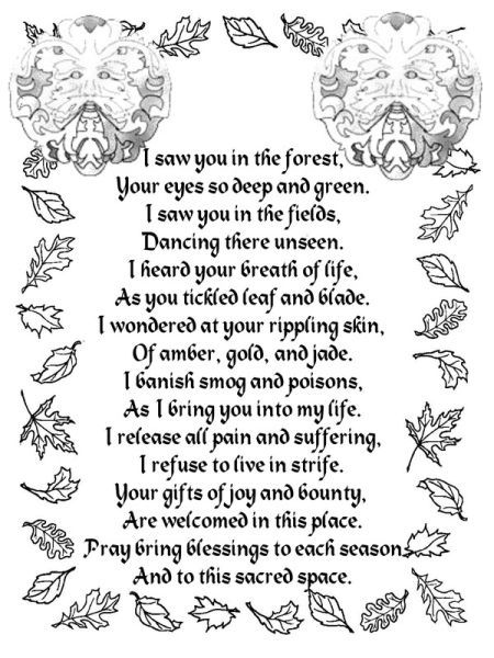 Greenman poem...truly perfect for any spiritual path