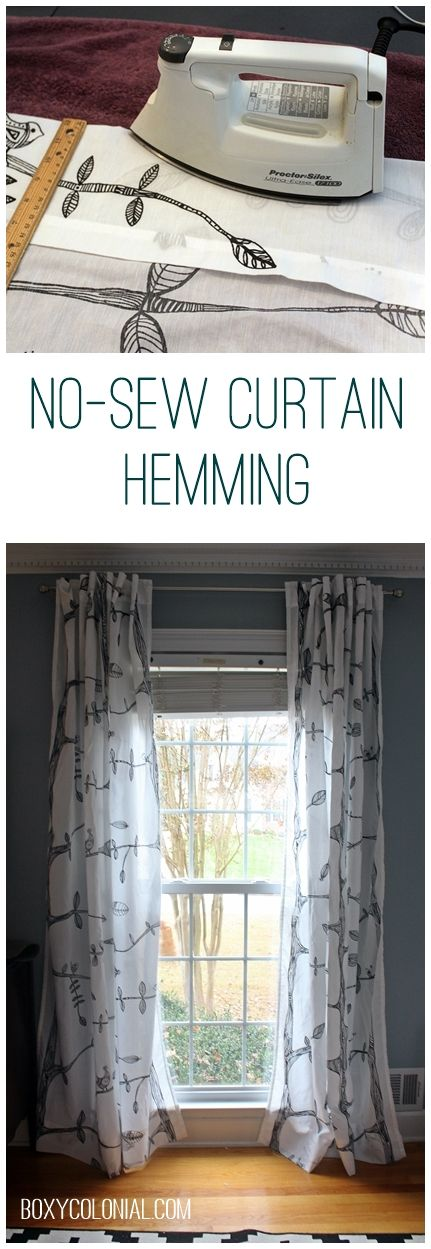 Hemming Curtains Without Sewing And Other Small Things Pen
