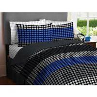 Tween Bedding Sets for Boys | BOY Blue Gray Black Circle ...