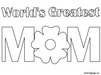 world's greatest mom coloring-page | Mother's Day ...