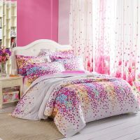 Purple White Yellow and Blue Lilac Floral Print Full
