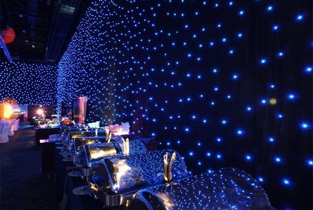 Black Drape Events Star Drop Show LED Curtains & Drape Rental