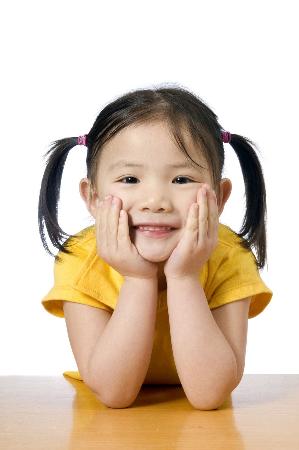 Little Chinese Girl Smiling So Cute