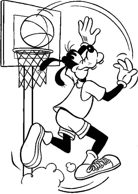 Kleurplaten Basketbal