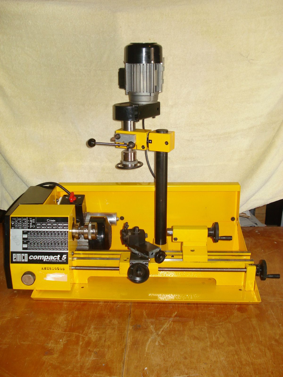 Emco Compact 5 lathe with milling accessory extras made in