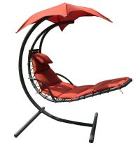 Details about Hanging Chaise Lounger Canopy Chair Arc ...