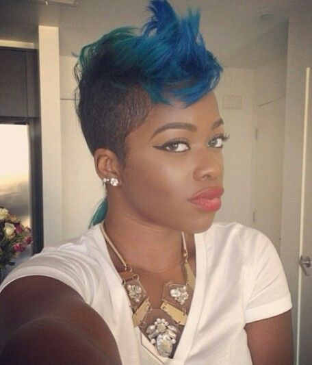 50 Mohawk Hairstyles For Black Women Shave Shaved Sides And